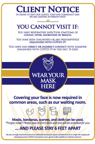 in person appointments masks - new directions counseling